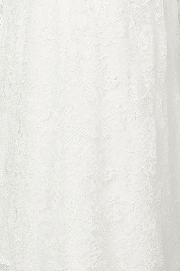 Robe stretch en dentelle florale, OFF WHITE, detail image number 2