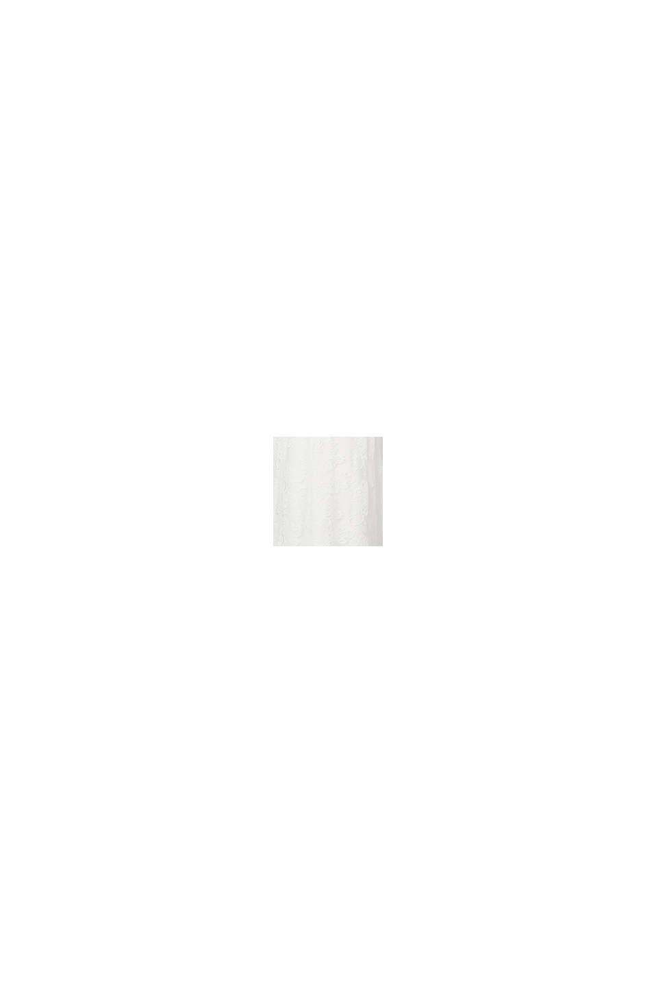 Vestido de encaje floral elástico, OFF WHITE, swatch