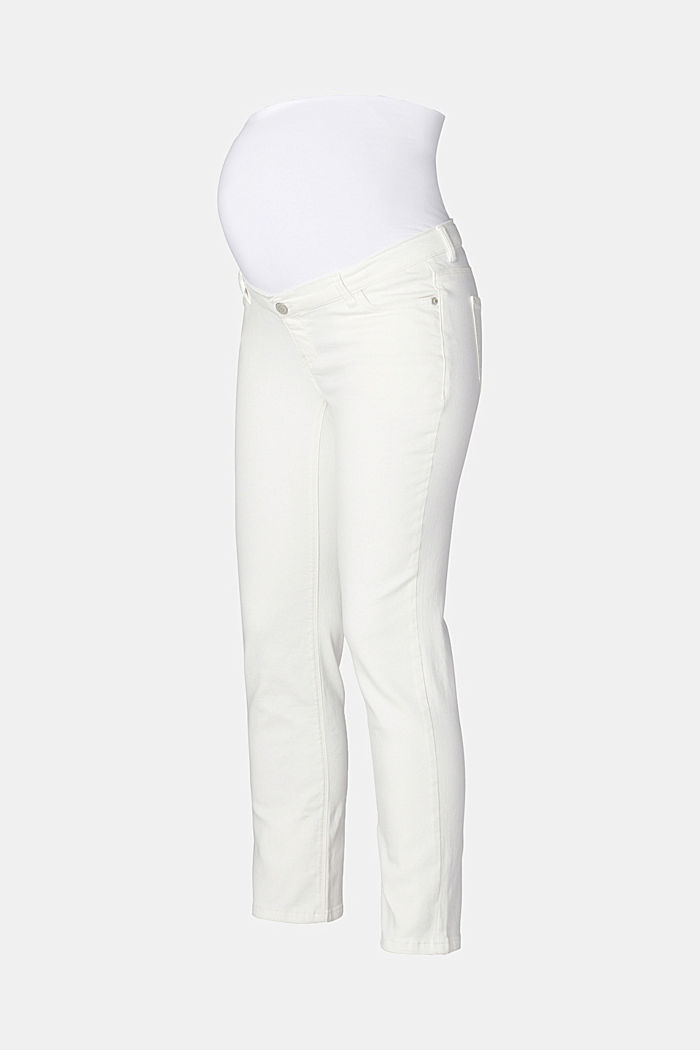 Stretch jeans with an over-bump waistband, OFF WHITE, detail image number 5