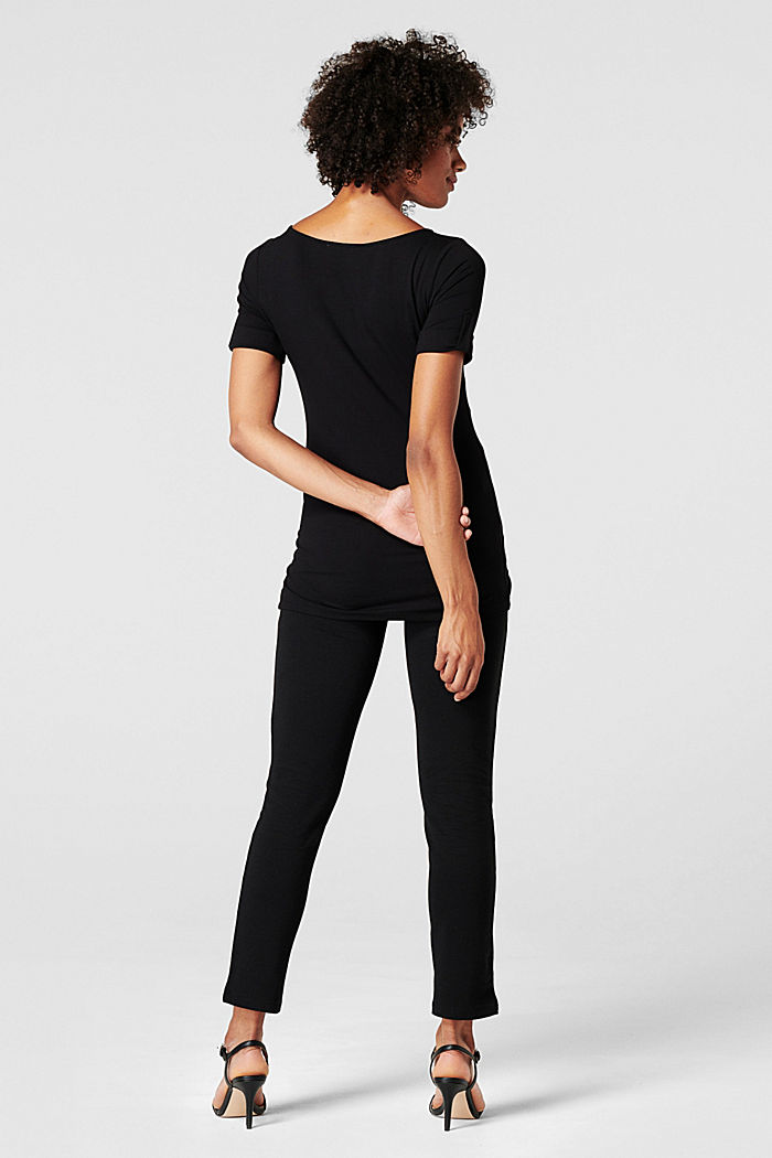 Jersey trousers with an over-bump waistband, BLACK, detail image number 1
