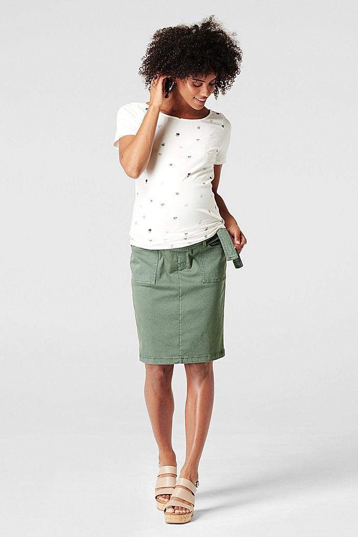 Utility skirt with an over-bump waistband, VINYARD GREEN, detail image number 0