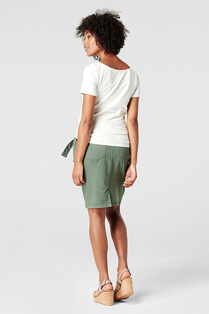 Utility skirt with an over-bump waistband, VINYARD GREEN, detail image number 2