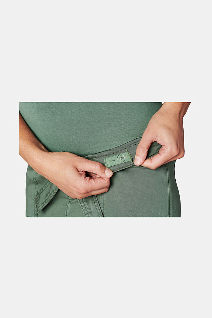 Utility skirt with an over-bump waistband, VINYARD GREEN, detail image number 1