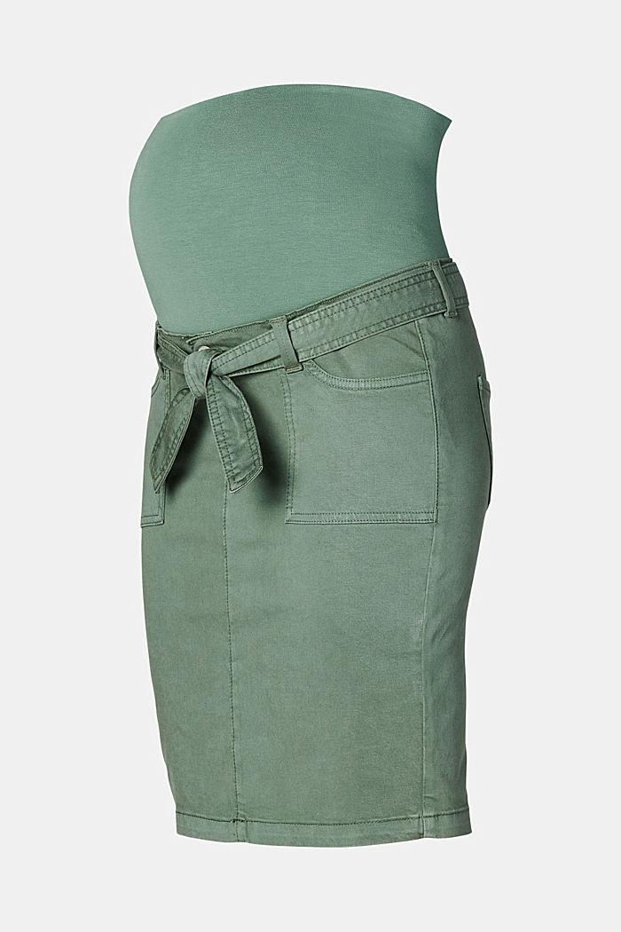 Utility skirt with an over-bump waistband, VINYARD GREEN, detail image number 5