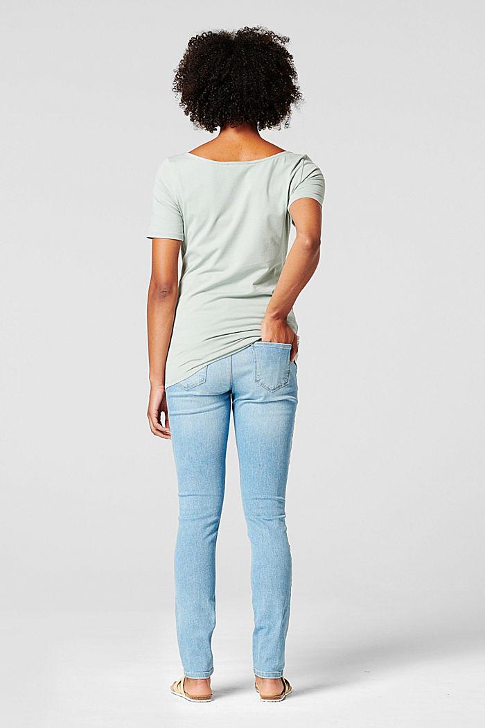 T-shirt med tryck, ekologisk bomull, GREY MOSS, detail image number 1