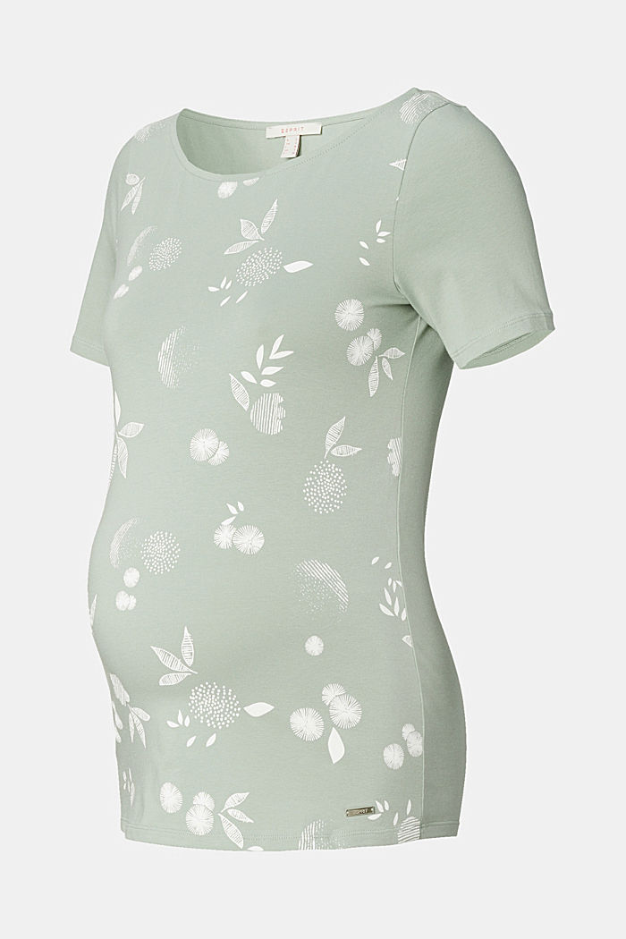 T-shirt with print, organic cotton, GREY MOSS, detail image number 4