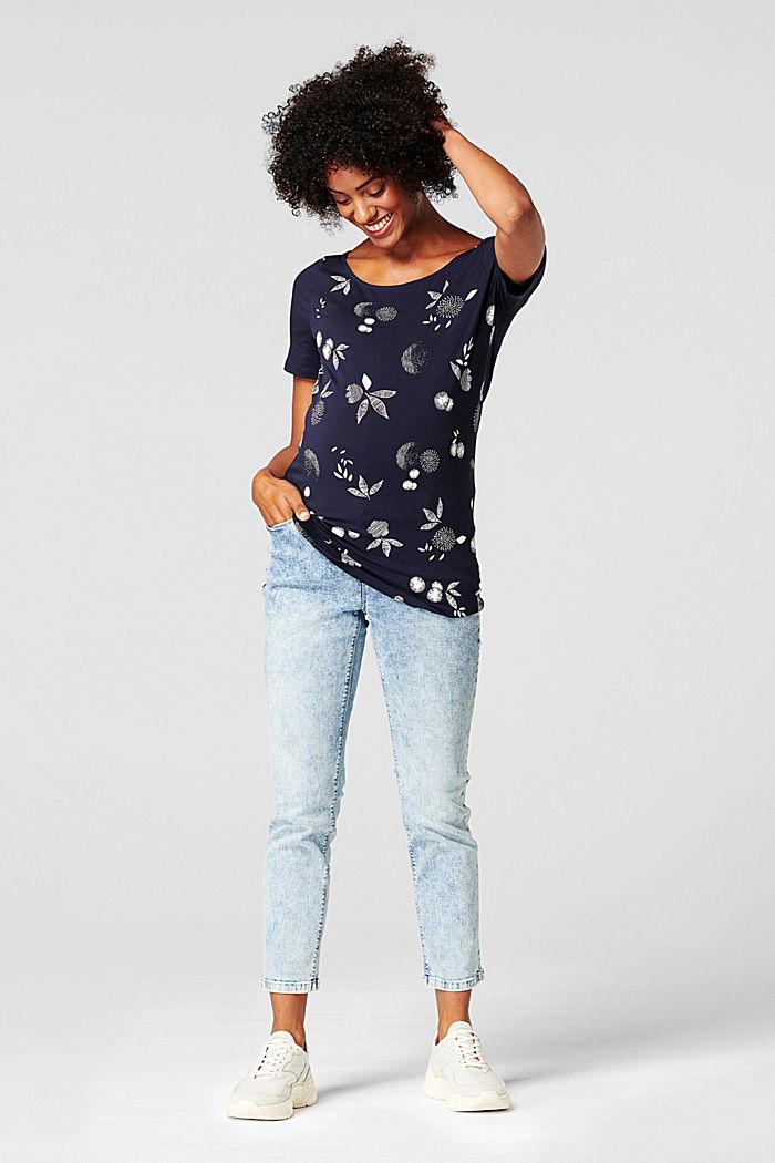 Camiseta con estampado, algodón ecológico, NIGHT SKY BLUE, detail image number 0