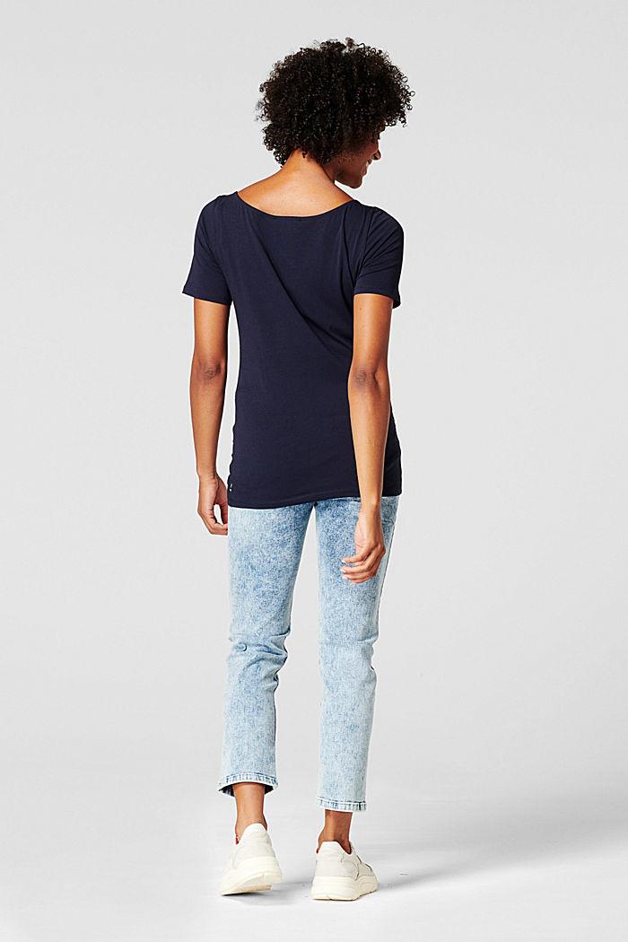 Camiseta con estampado, algodón ecológico, NIGHT SKY BLUE, detail image number 1