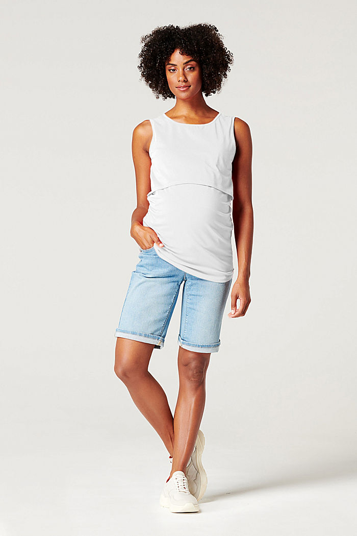 Layered nursing top, BRIGHT WHITE, overview