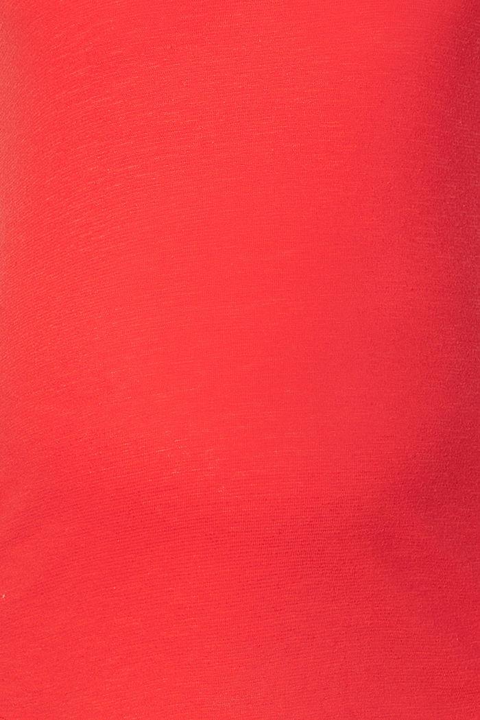 Mit Leinen: T-Shirt beidseitigem V-Neck, RED, detail image number 2