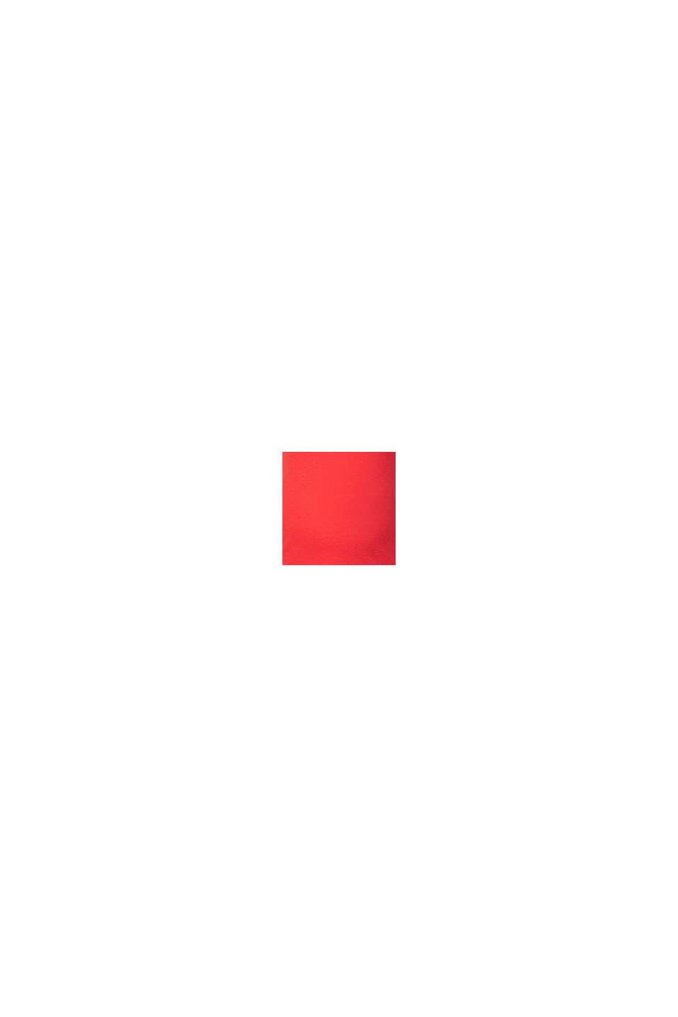 Z lnem: T-shirt z dekoltem w serek po obu stronach, RED, swatch