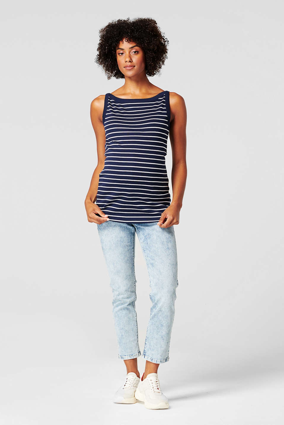 Esprit - Top in jersey a righe, in 100% cotone