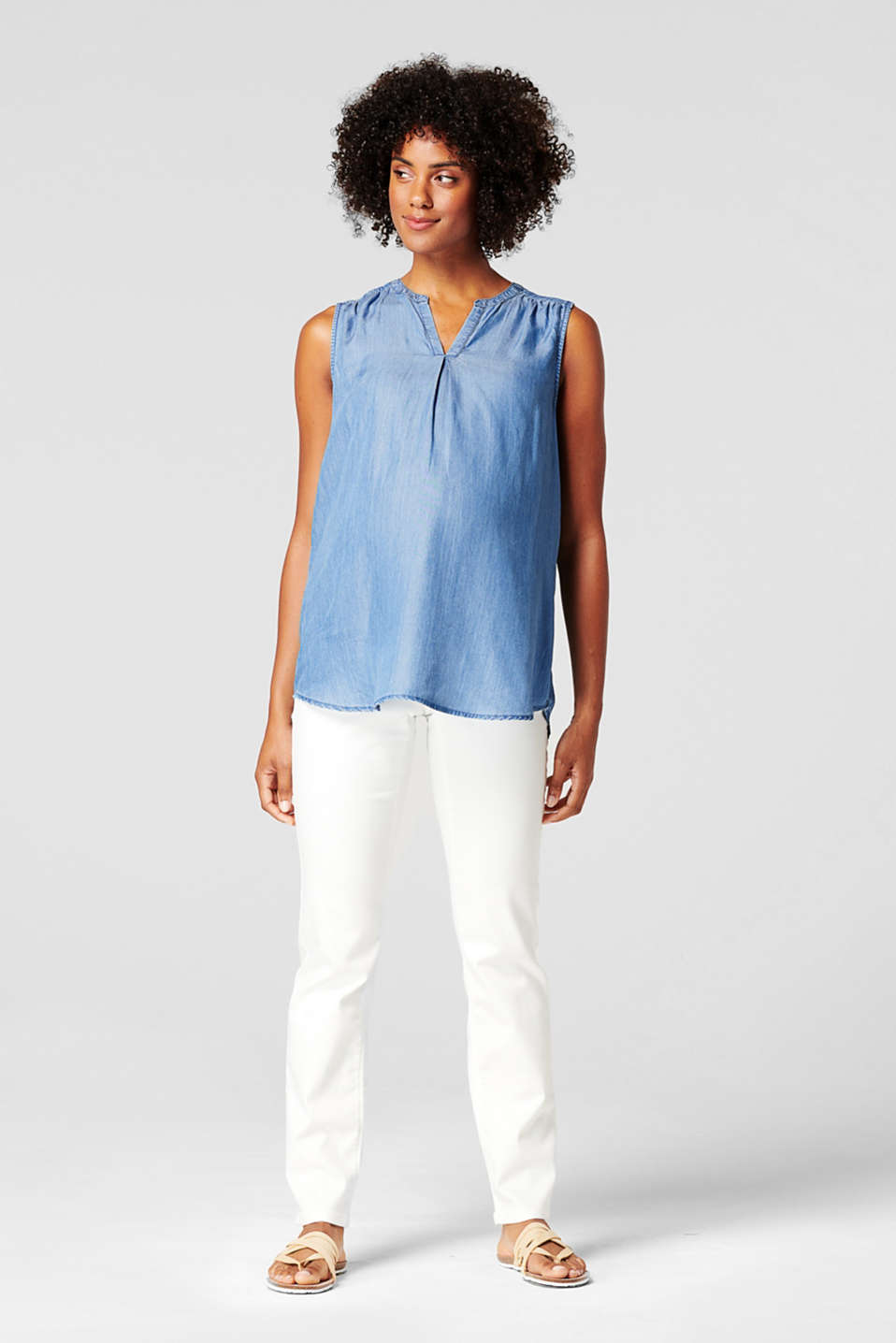 Esprit - Van TENCEL™: luchtige top in denim look