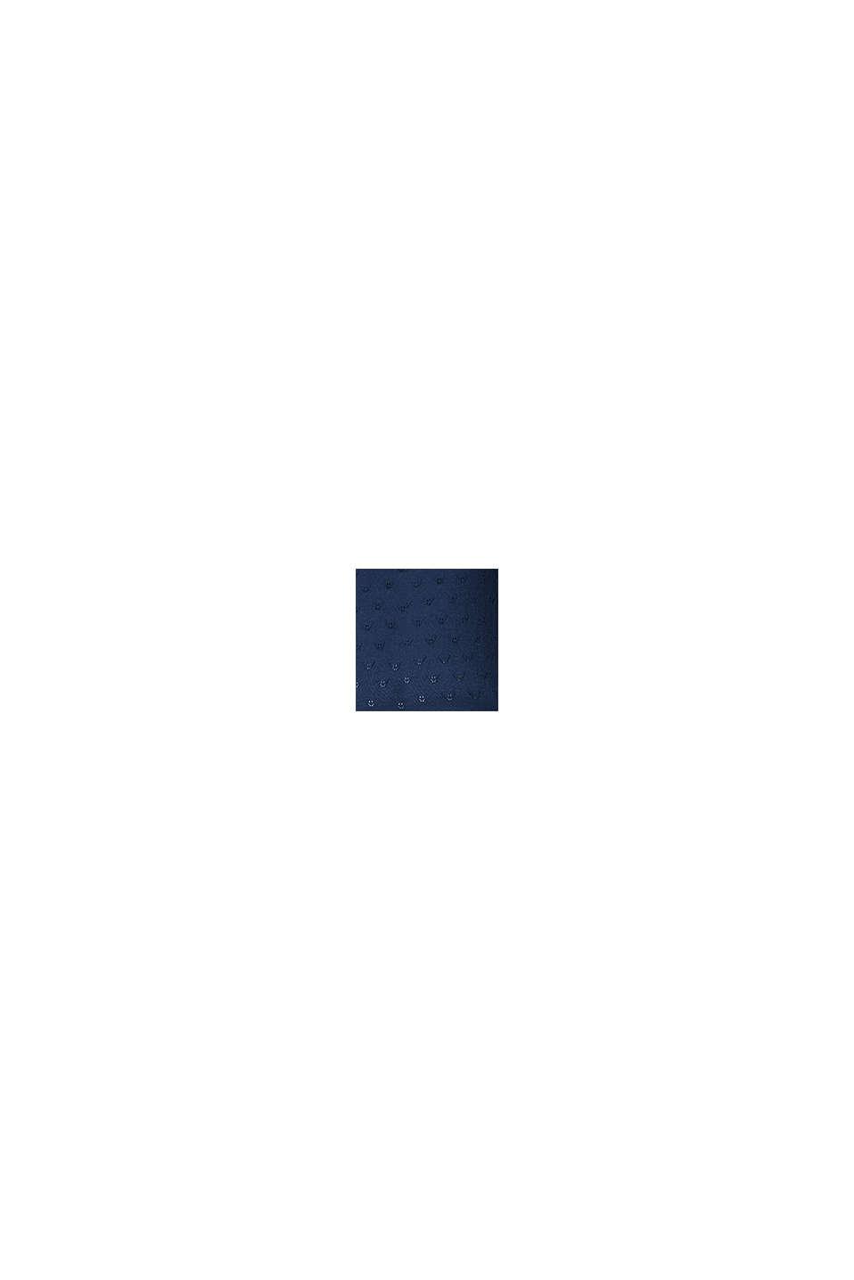 Tynd strikcardigan med hulmønster, NIGHT SKY BLUE, swatch