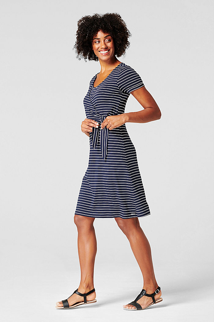 Jersey jurk met voedingsfunctie, LENZING™ ECOVERO™, NIGHT SKY BLUE, detail image number 1