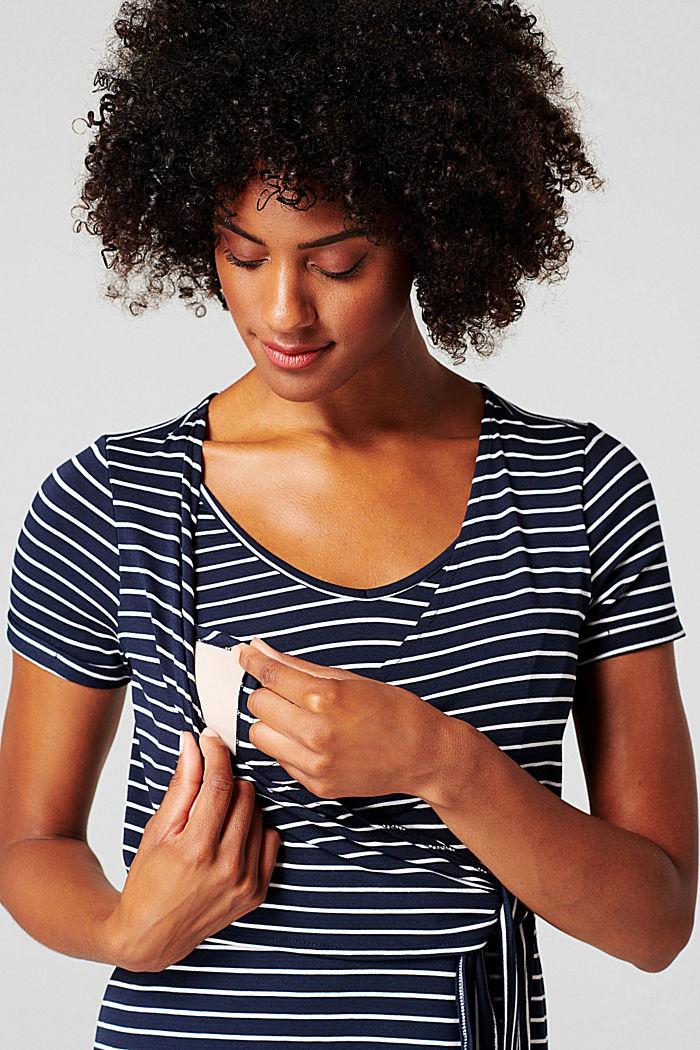 Jersey jurk met voedingsfunctie, LENZING™ ECOVERO™, NIGHT SKY BLUE, detail image number 3
