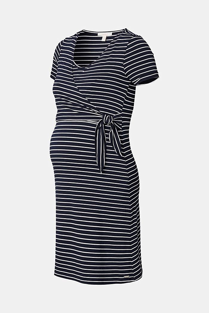 Jersey nursing dress, LENZING™ ECOVERO™, NIGHT SKY BLUE, detail image number 6