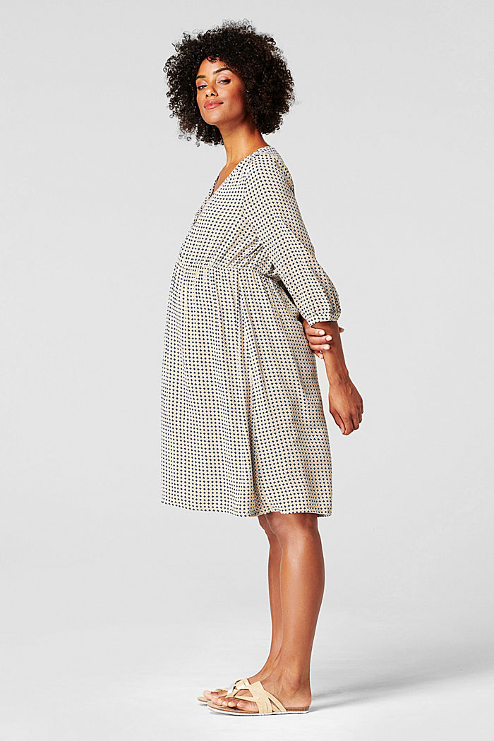 Kleid mit Stillfunktion, LENZING™ ECOVERO™, NIGHT SKY BLUE, detail image number 5