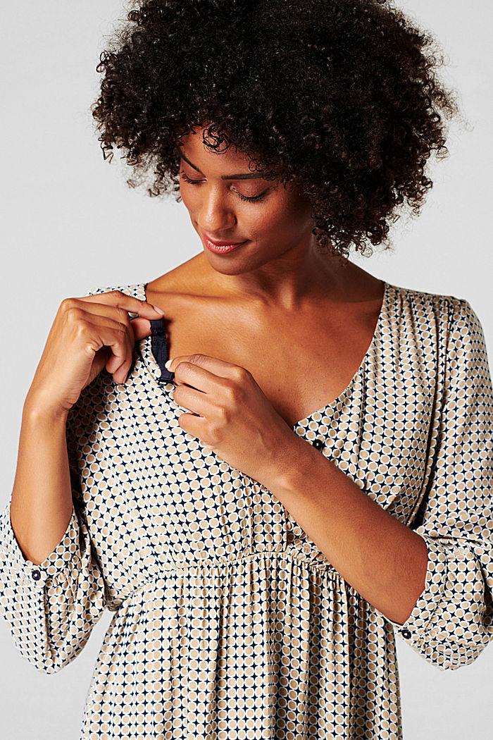Kleid mit Stillfunktion, LENZING™ ECOVERO™, NIGHT SKY BLUE, detail image number 2