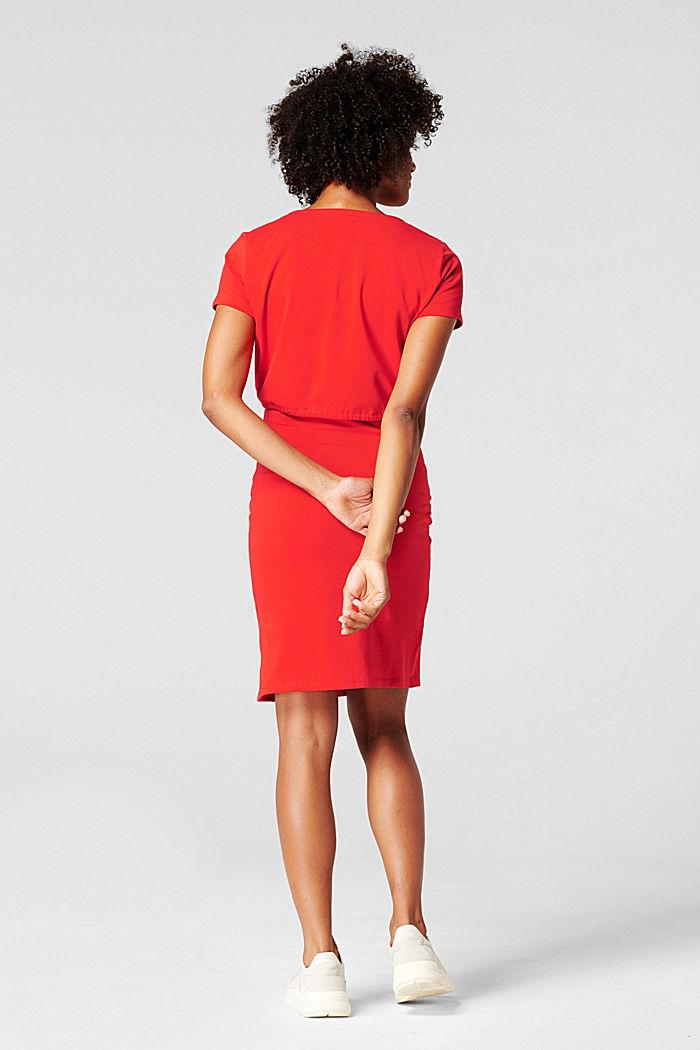 Layer-Kleid mit Stillfunktion, Organic Cotton, RED, detail image number 2