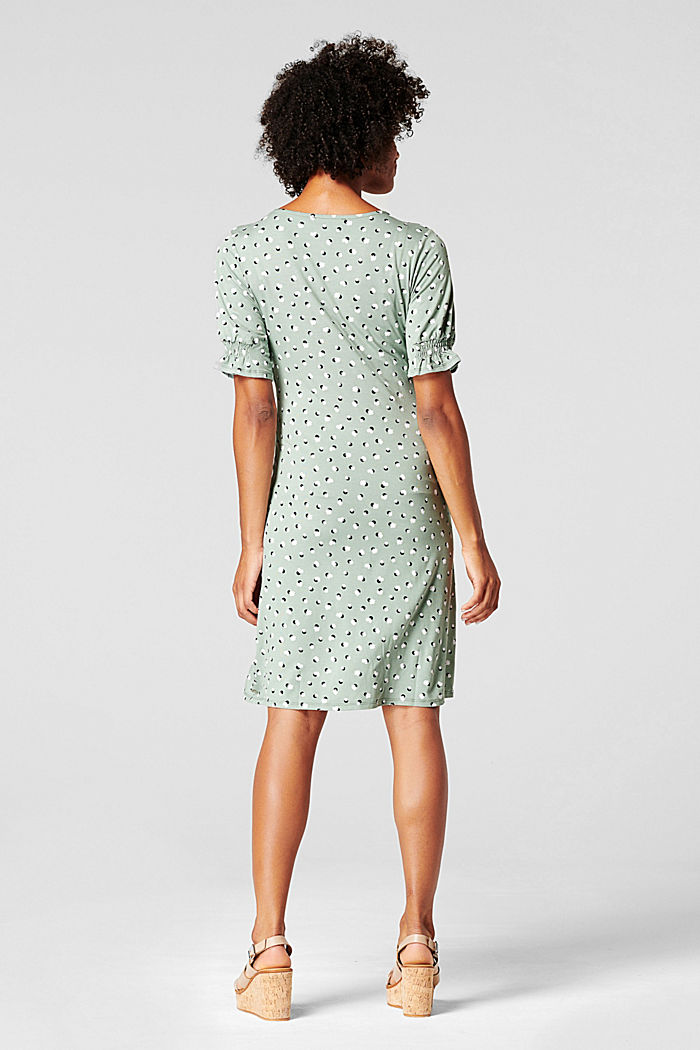 Nursing dress, LENZING™ ECOVERO™, GREY MOSS, detail image number 2
