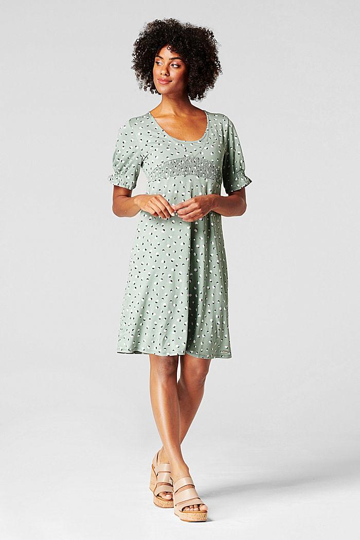 Nursing dress, LENZING™ ECOVERO™, GREY MOSS, detail image number 1