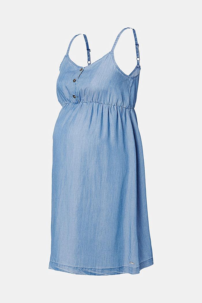 Aus TENCEL™: luftiges Kleid im Denim-Look