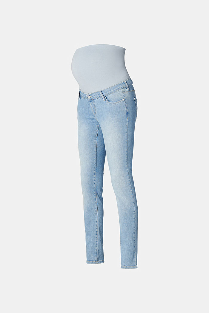 Stretch-Jeans mit Überbauchbund