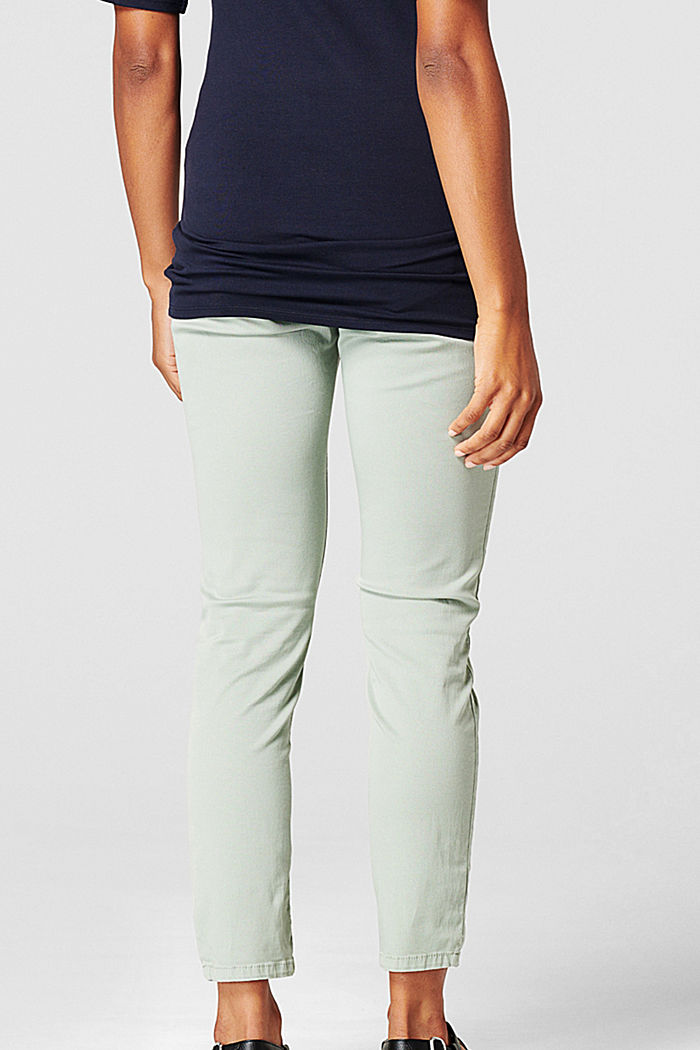 Spodnie do kostek z panelem, GREY MOSS, detail image number 1