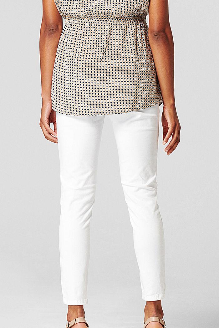 Knöchellange Hose mit Überbauchbund, BRIGHT WHITE, detail image number 2