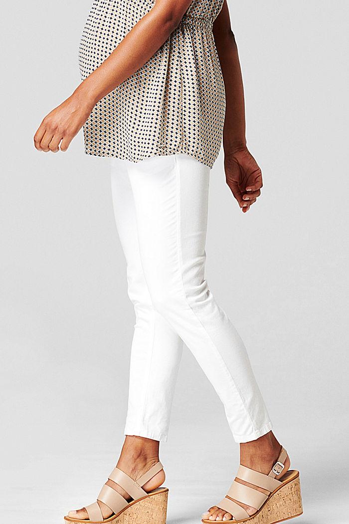 Knöchellange Hose mit Überbauchbund, BRIGHT WHITE, detail image number 4