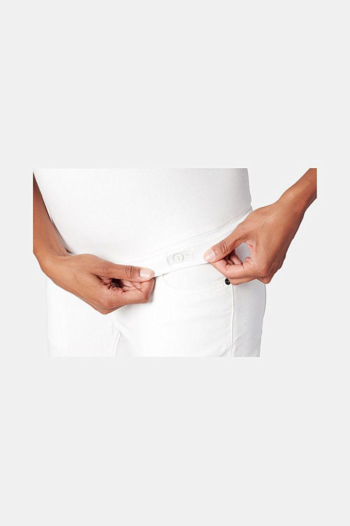 Knöchellange Hose mit Überbauchbund, BRIGHT WHITE, detail image number 1