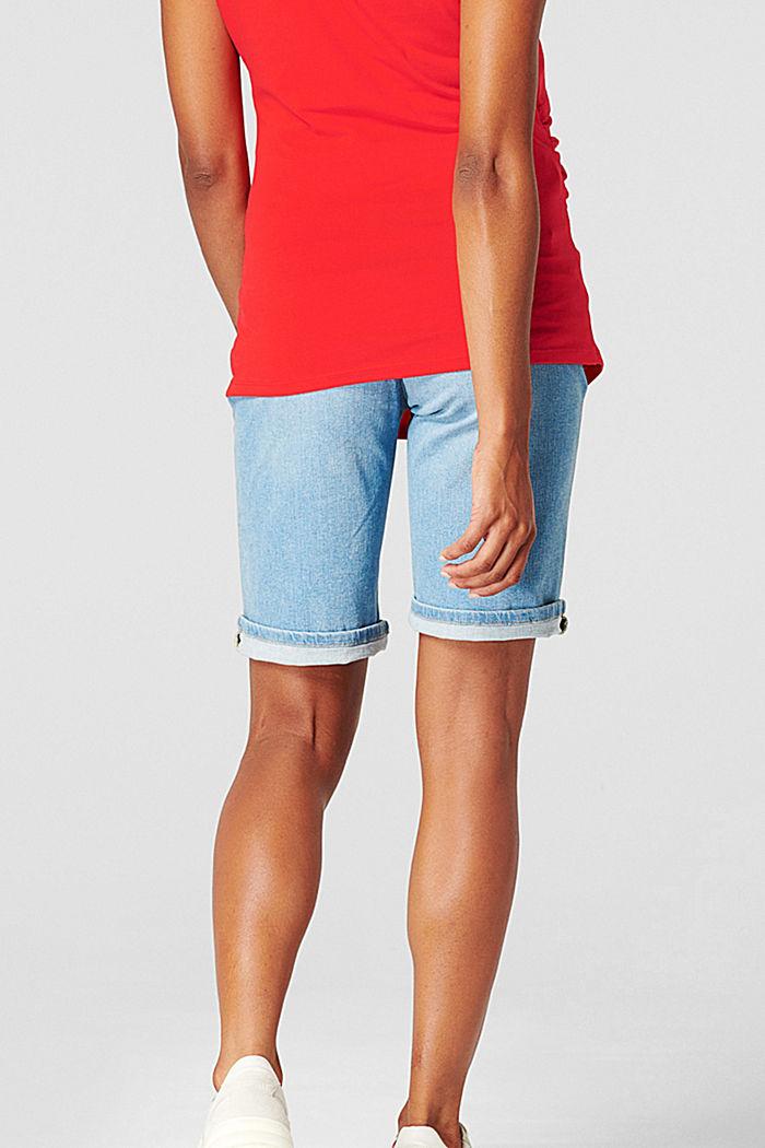 Jeans-Bermuda mit Überbauchbund, BLUE LIGHT WASHED, detail image number 2