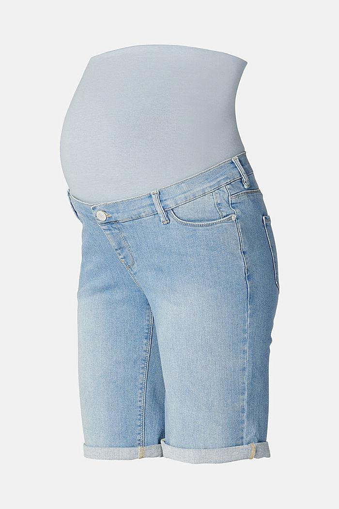 Jeans-Bermuda mit Überbauchbund