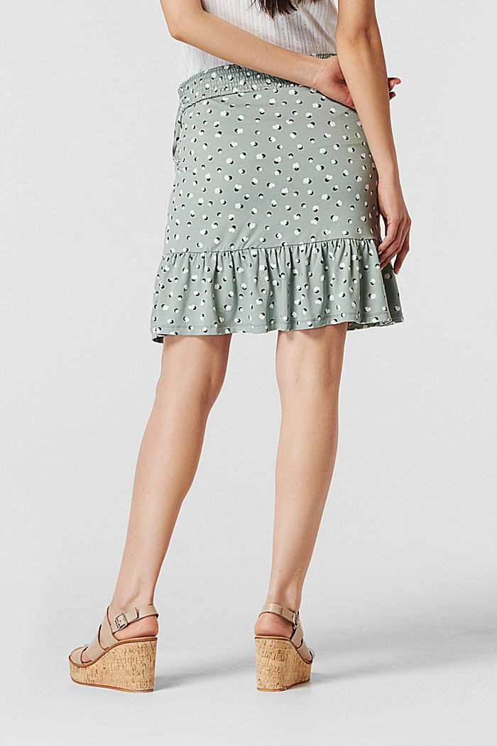 Jersey skirt with flounce, LENZING™ ECOVERO™, GREY MOSS, detail image number 1