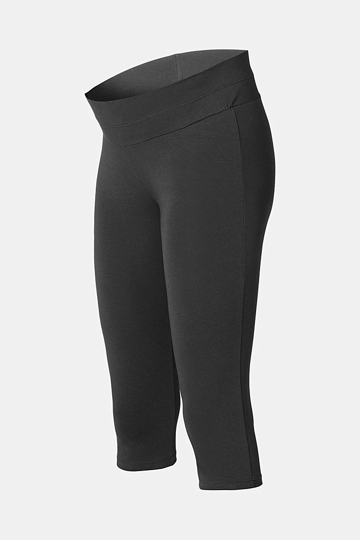 Leggings with over-bump waistband, organic cotton, BLACK INK, detail image number 0