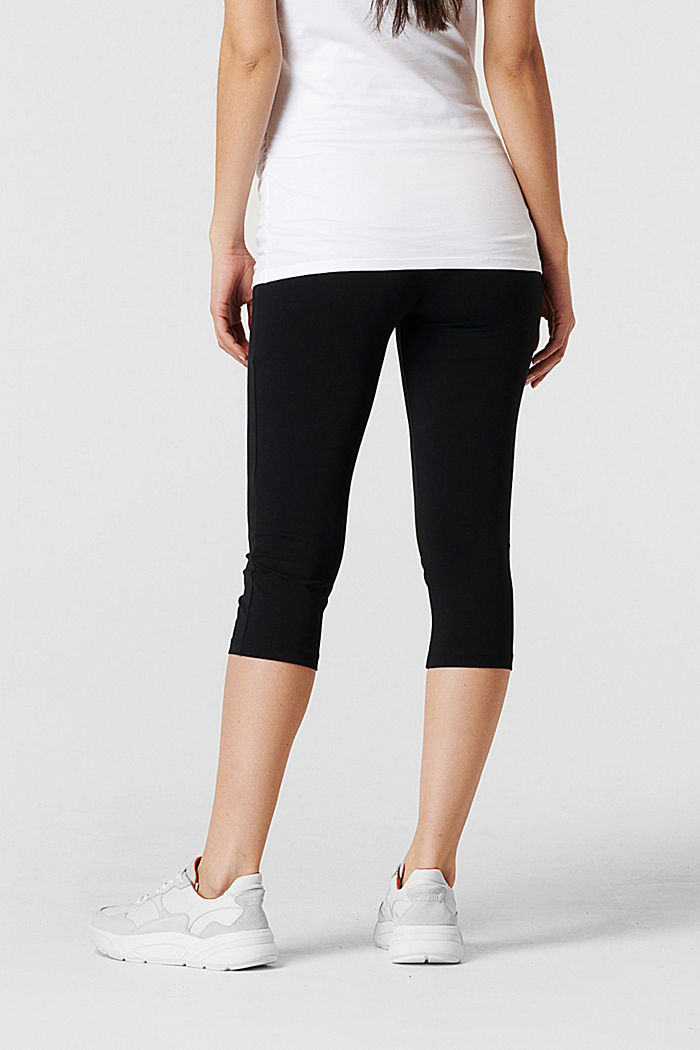 Leggings with over-bump waistband, organic cotton, BLACK INK, detail image number 3