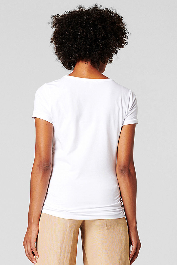 T-shirt with a floral print, organic cotton, BRIGHT WHITE, detail image number 1
