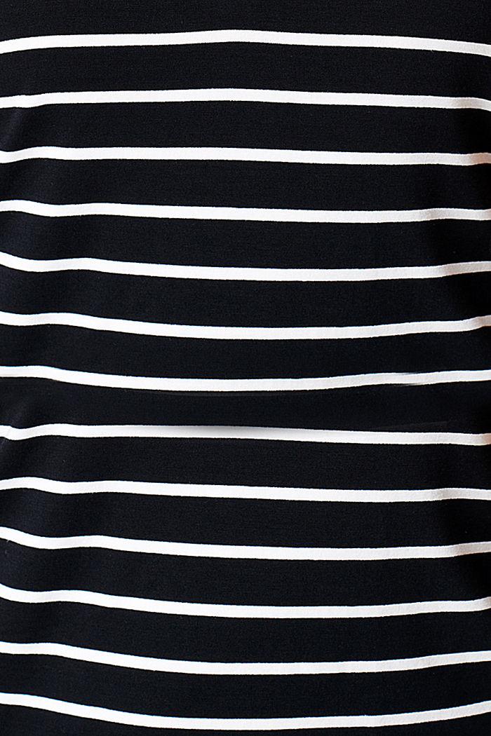 Top dla matek karmiących w paski z LENZING™ ECOVERO™, BLACK INK, detail image number 4