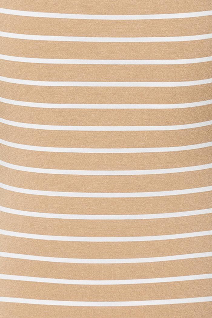 Gestreiftes Still-Top aus LENZING™ ECOVERO™, SAND, detail image number 4