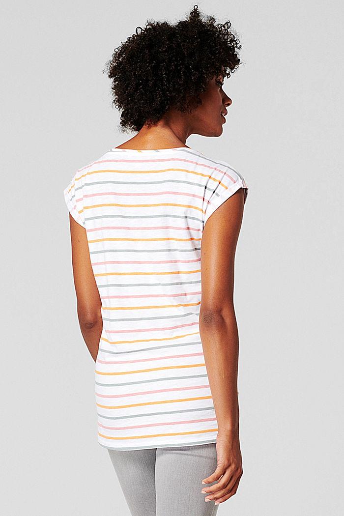 Gestreept shirt van 100% biologisch katoen, BRIGHT WHITE, detail image number 1