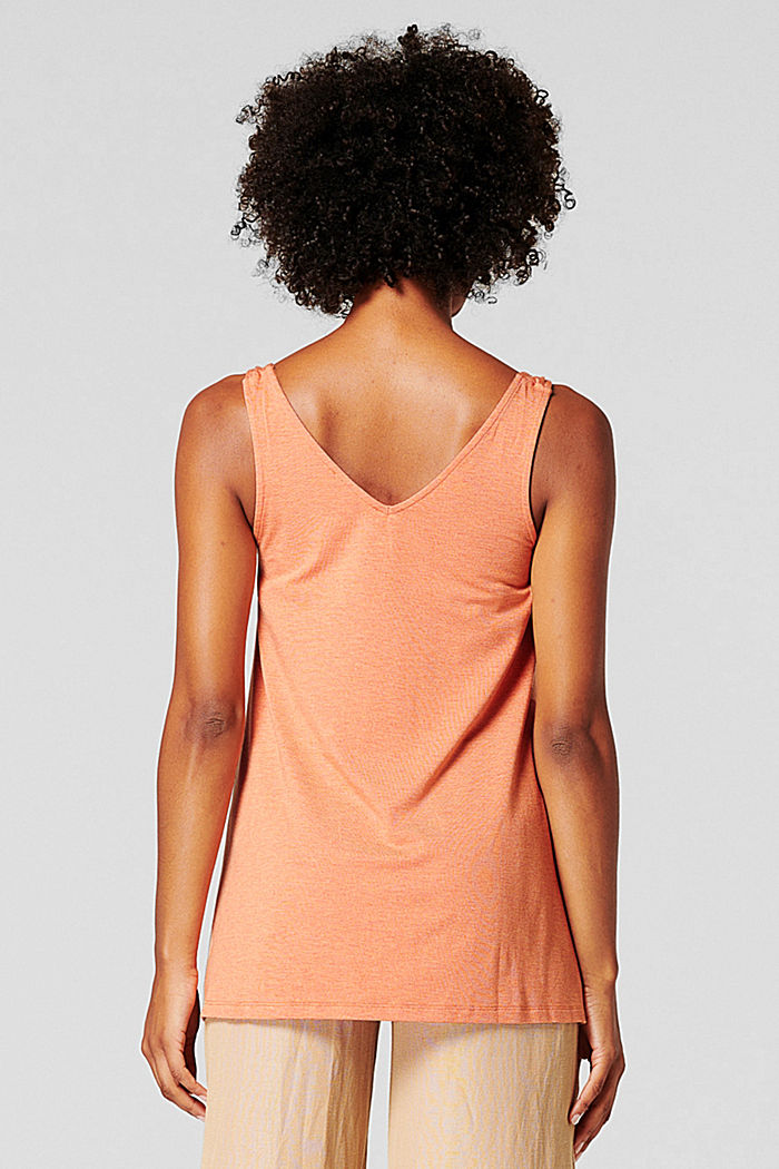 Jersey top with knotted straps, ORANGE DUSK, detail image number 1