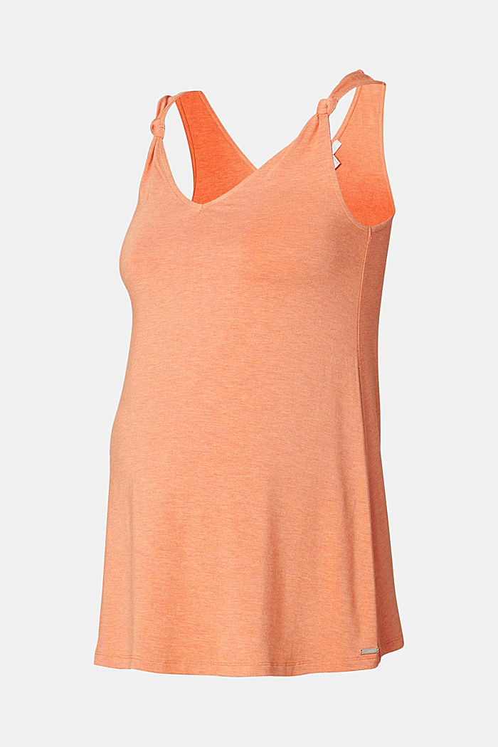 Jersey top with knotted straps