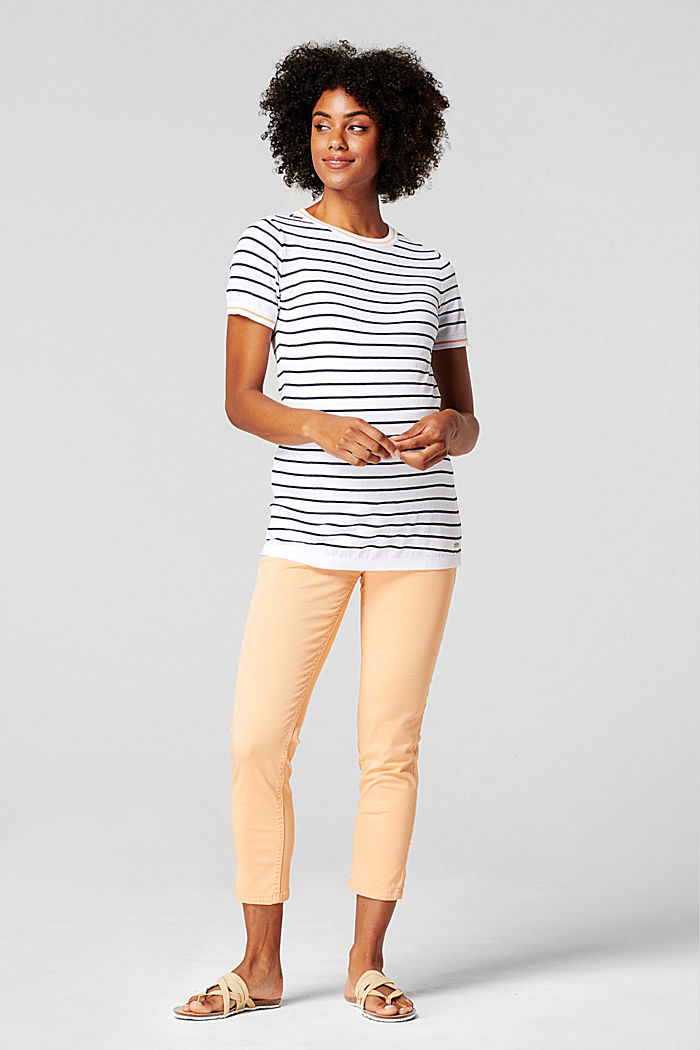 Short-sleeved jumper in 100% cotton