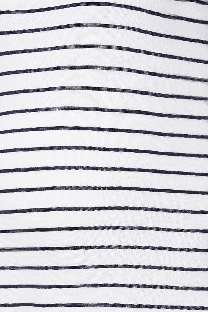 Pullover a manica corta in 100% cotone, BRIGHT WHITE, detail image number 2