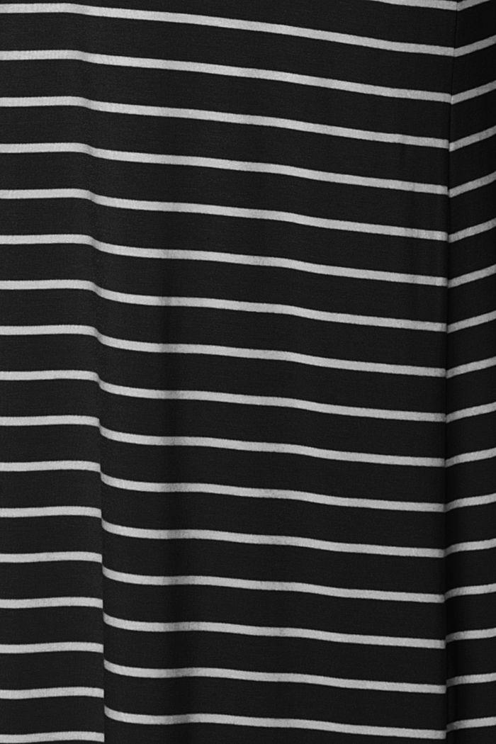 Jersey nursing dress, LENZING™ ECOVERO™, BLACK INK, detail image number 4