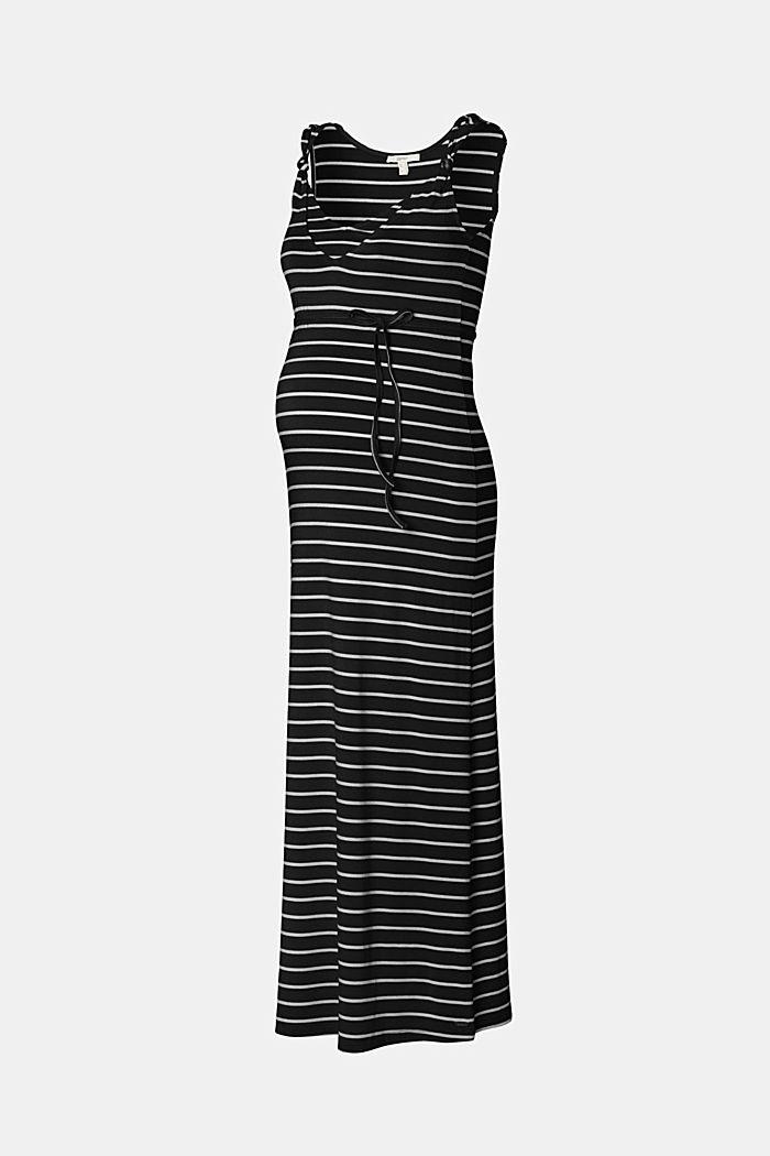 Jersey nursing dress, LENZING™ ECOVERO™, BLACK INK, detail image number 5