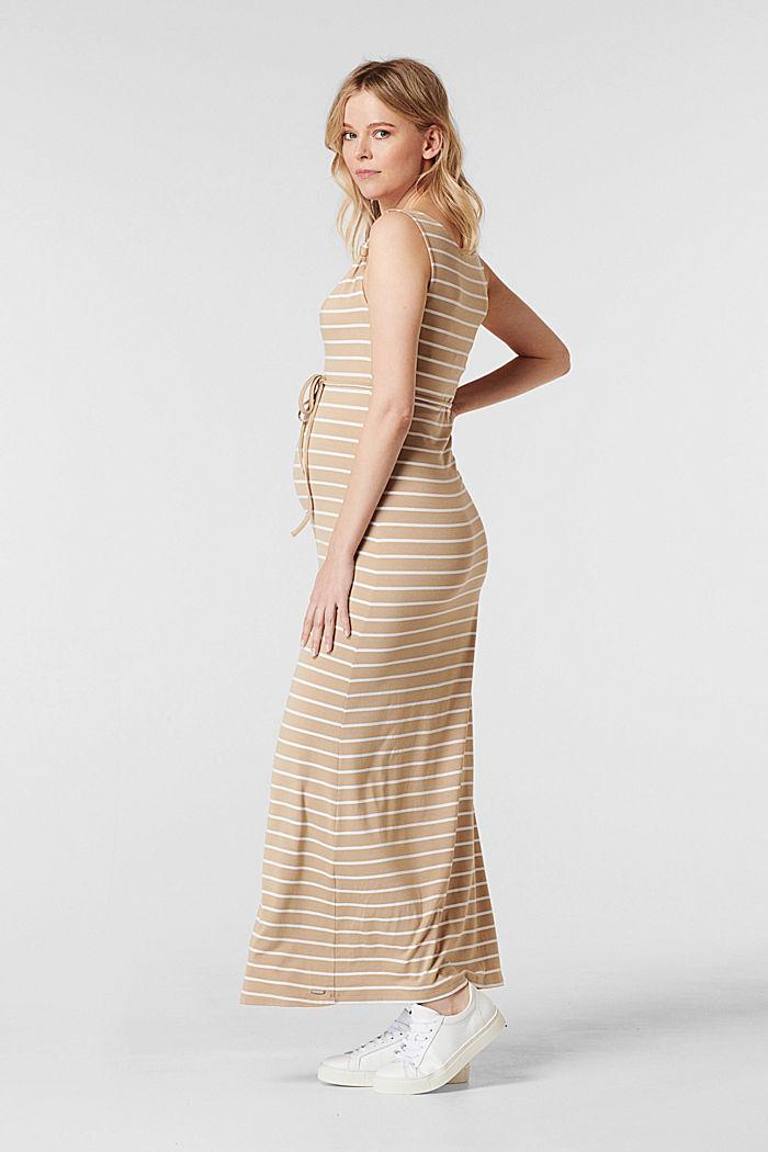 Jerseykleid mit Stillfunktion, LENZING™ ECOVERO™, SAND, detail image number 3