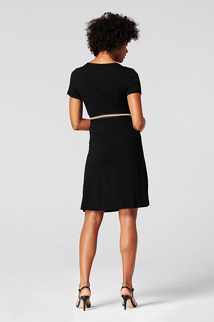 Jersey-Kleid mit Stillfunktion und Gürtel, BLACK INK, detail image number 2