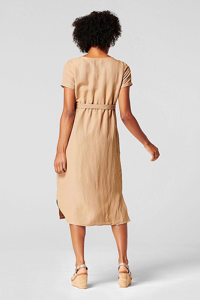 Van een linnenmix: jurk met voedingsfunctie, SAND, detail image number 3